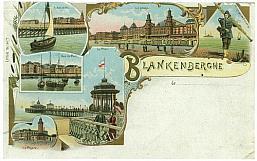 Blankenberge, city of belgian coast.